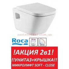 Унитаз подвесной Roca Gap A34H478000 Soft-Close