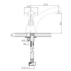 CUTHNA antiqua двухвентильный смеситель для раковины Imprese 05280 antiqua-n
