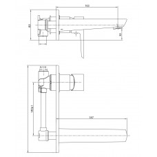 BRECLAV cмеситель для раковины (настенный) Imprese VR-05245