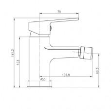 LASKA cмеситель для биде Imprese 40040(35)W