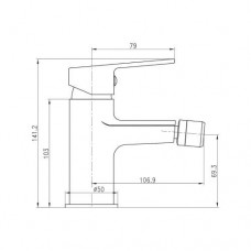 LASKA cмеситель для биде, сатин, 35 мм 40040S Imprese 40040S