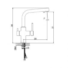 Смеситель кухонный IMPRESE Daicy с 5-ти ступенчатой системой обратного осмоса Ecosoft Standart 55009-F+MO550ECOSTD