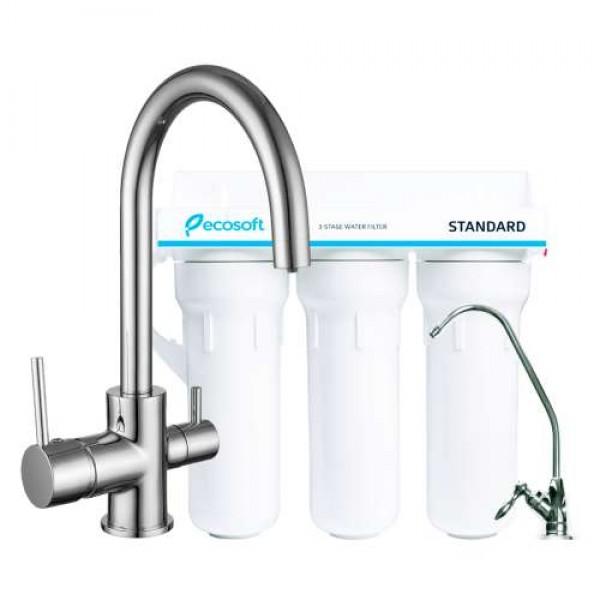 Комплект: DAICY-U смеситель для кухни, Ecosoft Standart система очистки воды (3х ступенчатая) 55009-U+FMV3ECOSTD Imprese 55009-U+FMV3ECOSTD