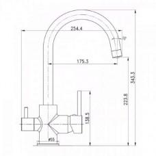 Комплект: DAICY-U смеситель для кухни, USTM система очистки воды (3х ступенчатая) Imprese 55009-U+FS-3-N