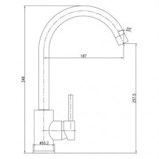 LOTTA смеситель для кухни 55401-SS Imprese 55401-SS