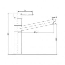 LOTTA смеситель для кухни 55402-SS Imprese 55402-SS