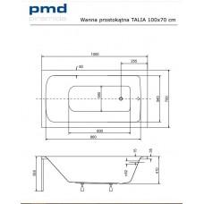 Ванна акриловая Talia 100х70 BESCO PMD PIRAMIDA от производителя акриловых ванн и поддонов BESCO