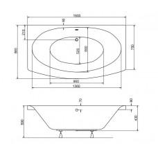 Ванна акриловая TELIMENA 160x75 Besco PMD Piramida от производителя акриловых ванн и поддонов BESCO
