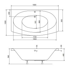 Ванна акриловая TELIMENA 180x85 Besco PMD Piramida от производителя акриловых ванн и поддонов BESCO