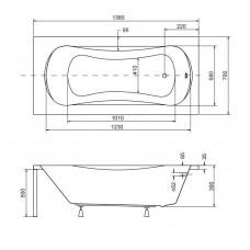 Ванна акриловая ARIA 140x70 Besco PMD Piramida от производителя акриловых ванн и поддонов BESCO