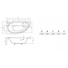 Ванна акриловая MINI 150х70 BESCO правосторонняя от производителя акриловых ванн и поддонов BESCO