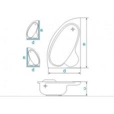 Ванна акриловая ADA 160х100 BESCO правосторонняя с отверстиями под ручки от производителя акриловых ванн и поддонов BESCO