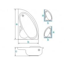 Ванна акриловая BIANKA 150х95 BESCO левосторонняя с отверстиями под ручки от производителя акриловых ванн и поддонов BESCO