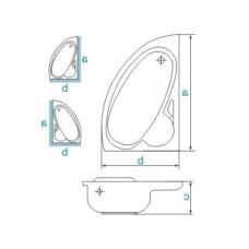 Ванна акриловая BIANKA 150х95 BESCO правосторонняя с отверстиями под ручки от производителя акриловых ванн и поддонов BESCO
