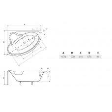 Ванна акриловая DELFINA 166х107 BESCO правосторонняя от производителя акриловых ванн и поддонов BESCO