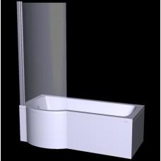 Ванна акриловая INSPIRO 160х70 BESCO левосторонняя, лучшая цена в магазине польского производителя «BESCO PMD PIRAMIDA», Одесса ☎ 050 888 31 17, www.besco.com.ua - 509303863
