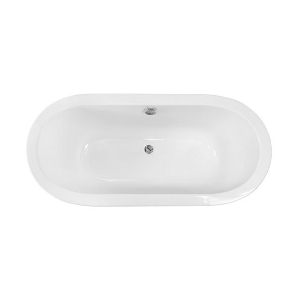 Ванна отдельно стоящая c деревянными ногами Gracja 185x83 Besco PMD PIRAMIDA от производителя акриловых ванн и поддонов BESCO