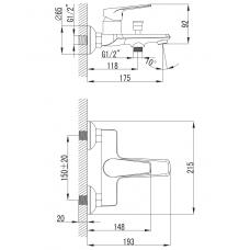 BARKA cмеситель для ванны Imprese 10265