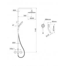 BILA SMEDA система душевая (смеситель для душа) Imprese T-15085