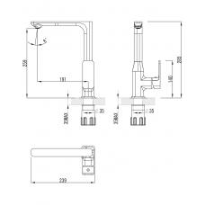 BILOVEC смеситель для кухни Imprese 55255