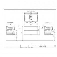 Тумба BOTTICELLI RIMINI Rm-80 дуб графит