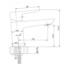 BRECLAV cмеситель для раковины с донным клапаном Imprese 05245PP