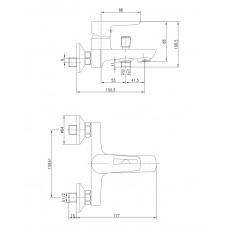 BRECLAV cмеситель для ванны Imprese 10245W