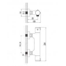 CENTRUM cмеситель для душа с термостатом Imprese 15400