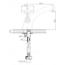 CUTHNA stribro двухвентильный смеситель для раковины Imprese 05280 stribro