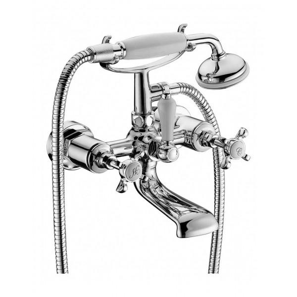 CUTHNA stribro двухвентильный смеситель для ванны Imprese 10280 stribro