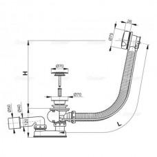 Сифон для ванны Koller Pool автомат 57cm