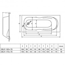 Koller Pool Delfi 170х70