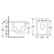 Комплект инсталляция 4 в 1 Grohe Rapid SL 38772001 + унитаз Volle Libra RIM 13-41-160 с сидением Soft Close Slim