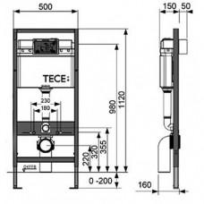 Комплект ТЕСЕbase 3 в 1 для подвесного унитаза 9400000