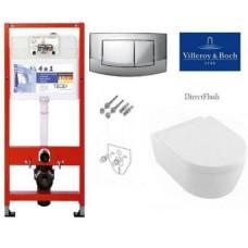 Инсталляции 4 в 1 с унитазом Tece 9400005+Villeroy&Boch 5656HR01