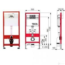 Инсталляция Tece 9400006 4 в 1 + Унитаз подвесной Villeroy&Boch Omnia Architectura 5684HR01 Direct Flush