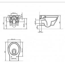 Комплект инсталляция 4 в 1 Volle Master 141515 + унитаз Volle Iberia Rimless 13-21-124 с сидением Soft Close