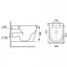 Комплект инсталляция 4 в 1 Volle Master 141919 + унитаз Volle Fiesta Rim 13-77-034 с крышкой Soft Close Slim