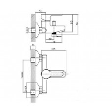 KUCERA смеситель для ванны Imprese 10105