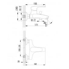 JESENIK смеситель для ванны Imprese 10140