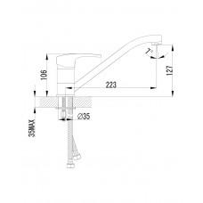 JESENIK смеситель для кухни 20140 Imprese 20140