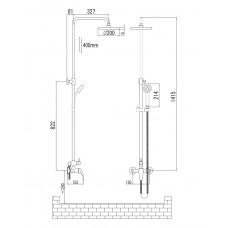 JESENIK система душевая (смеситель для душа Imprese T-15140