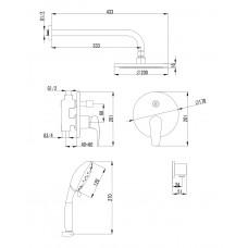 JESENIK смеситель скрытого монтажа для душа(смес.с переключ. Imprese VR-15140