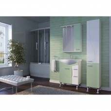 Зеркальный шкаф JUVENTA FRANCHESKA ФШНЗ 2-65 правый салатовый
