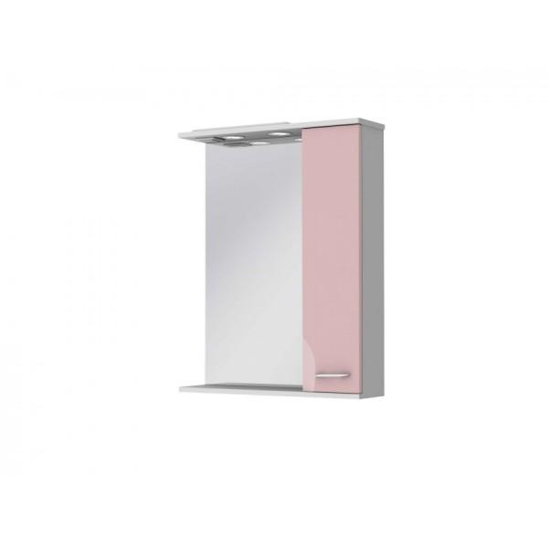Зеркальный шкаф JUVENTA FRANCHESKA ФШНЗ 2-65 правый розовый