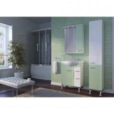 Зеркальный шкаф JUVENTA FRANCHESKA ФШНЗ 3-75 правый салатовый