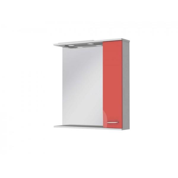 Зеркальный шкаф JUVENTA FRANCHESKA ФШНЗ 3-75 правый красный