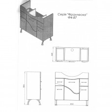 Тумба JUVENTA FRANCHESKA Ф4-87 белая
