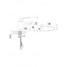 KRINICE смеситель для раковины Imprese 05110