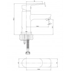 LASKA cмеситель для раковины Imprese 05040(35)S